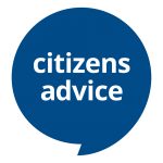 Citizens Advice Logo. Blue speech bubble.